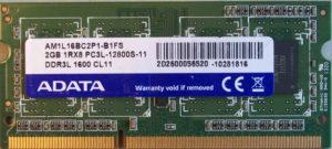 Adata 2GB PC3L-12800S