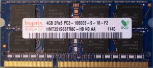 Hynix 4GB PC3-10600S