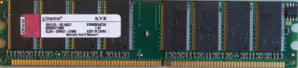 Kingston 1GB PC3200U