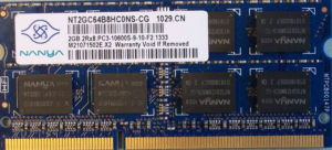 Nanya 2GB PC3-10600S