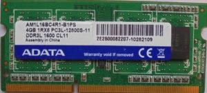 Adata 4GB PC3L-12800S