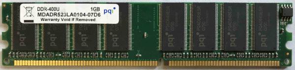 PQ 1GB PC3200U