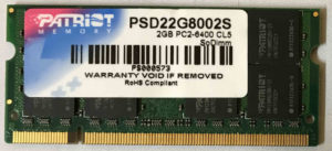 Patrist 2GB PC2-6400S 800MHz