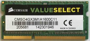 Corsair 4GB PC3-12800S