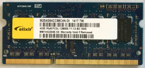 Elixir 4GB PC3L-12800S