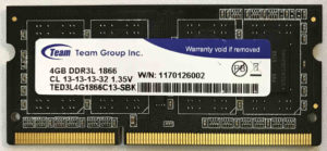 Team Group 4GB PC3L-14900S